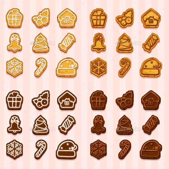 Shaped Cookies for Christmas and New Year - Christmas Seasons/Holidays