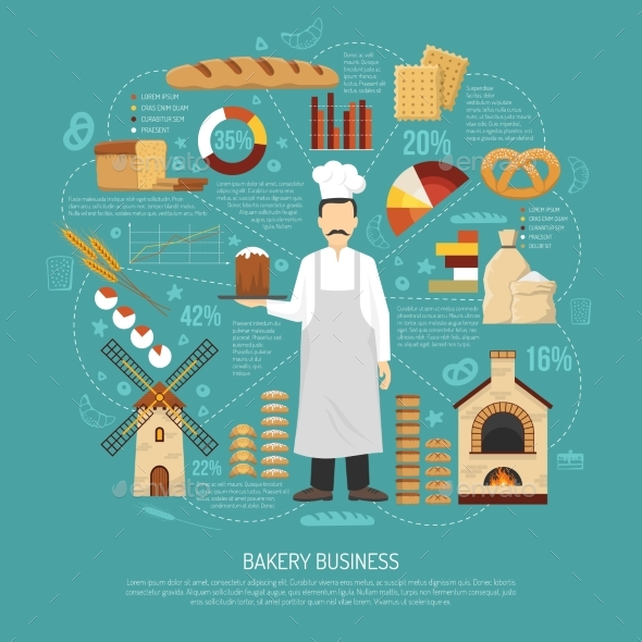 Bakery Business Illustration - Miscellaneous Conceptual