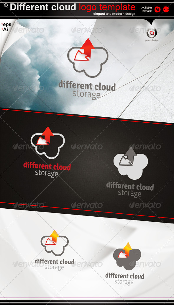 Different Cloud Storage - Logo Templates