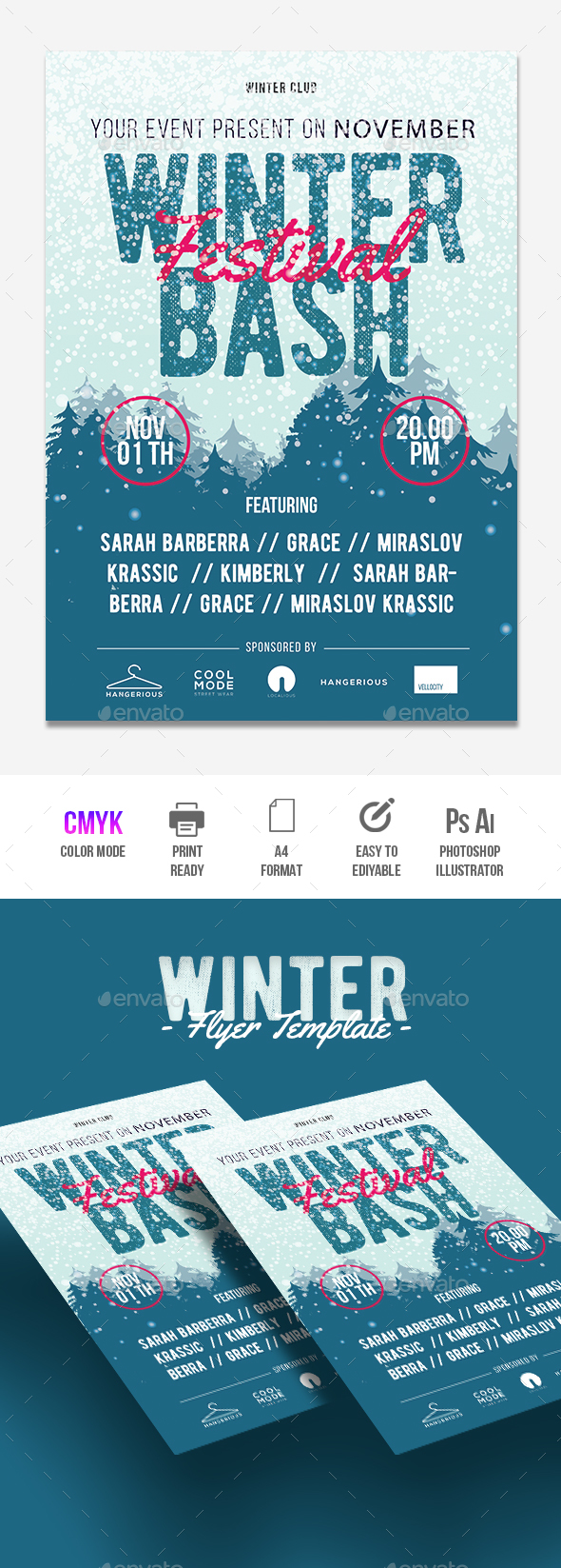 Winter Bash - Flyers Print Templates