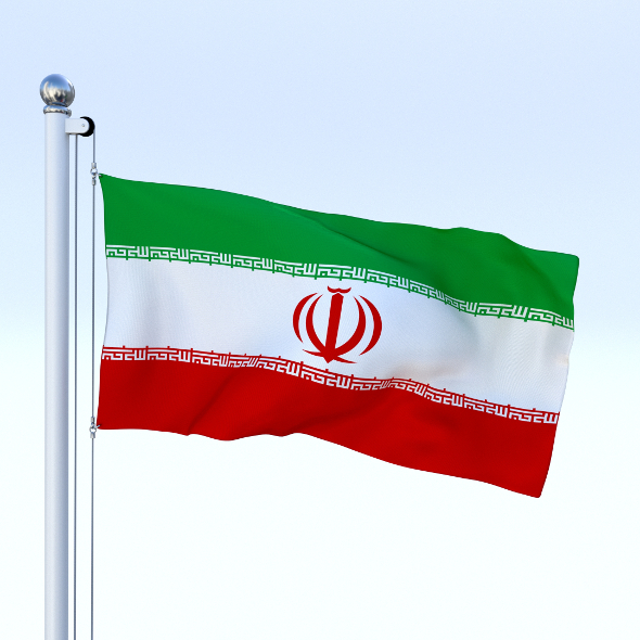 Animated Iran Flag - 3DOcean Item for Sale