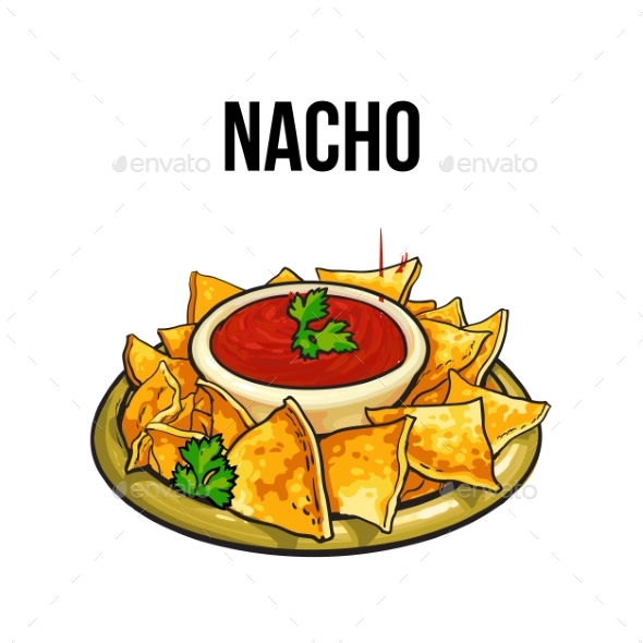 Mexican Nachos - Food Objects