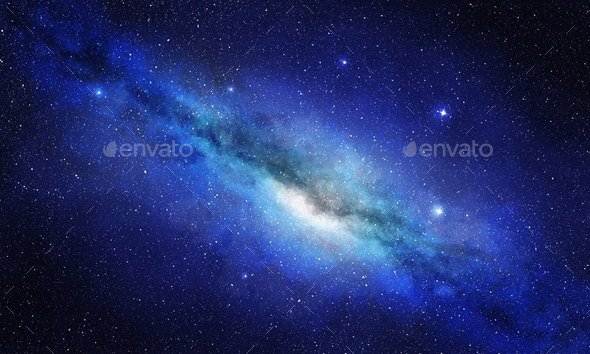 star cluster and plasma in outer space - Stock Photo - Images