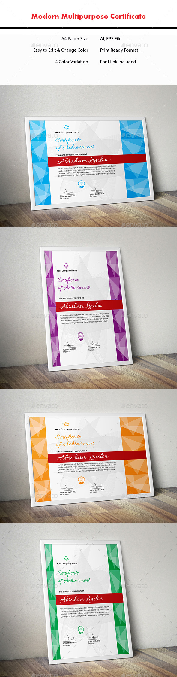 Certificate - Stationery Print Templates