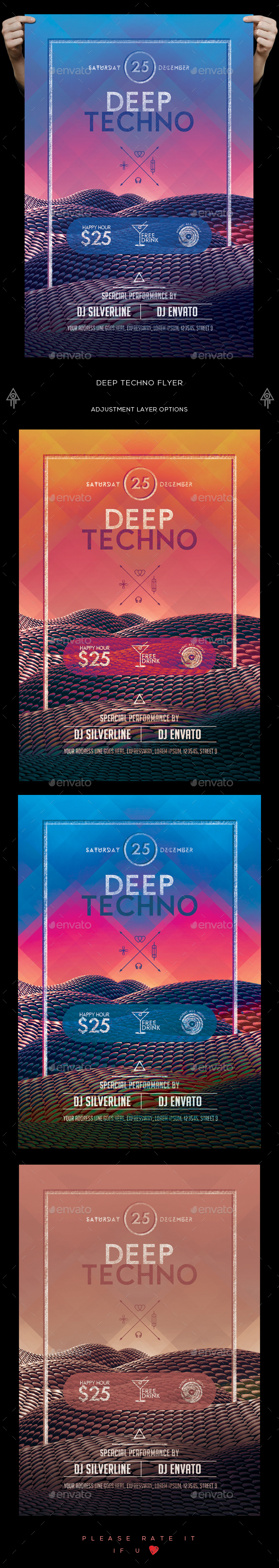 Deep Techno Flyer - Clubs & Parties Events