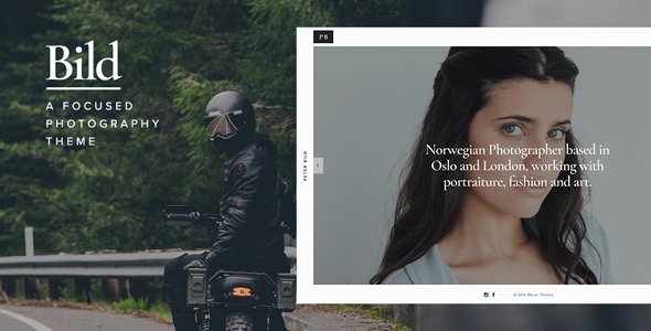 Bild — A Focused WordPress Photography Theme - Photography Creative