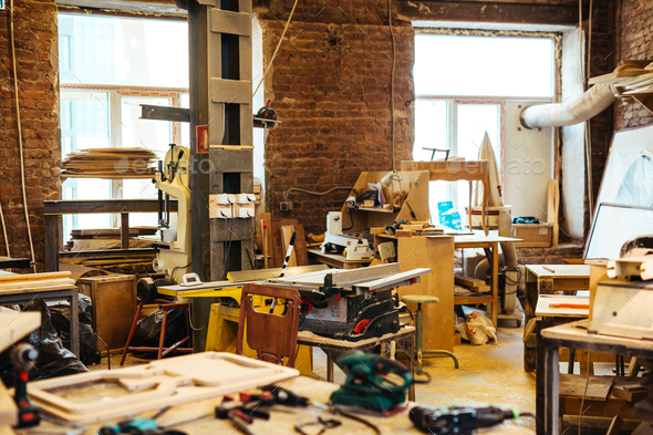 Workplace of cabinetmaker - Stock Photo - Images