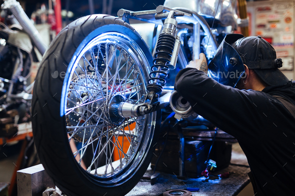 Work of welder - Stock Photo - Images