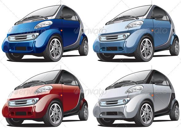 Modern Car No1 - Objects Vectors