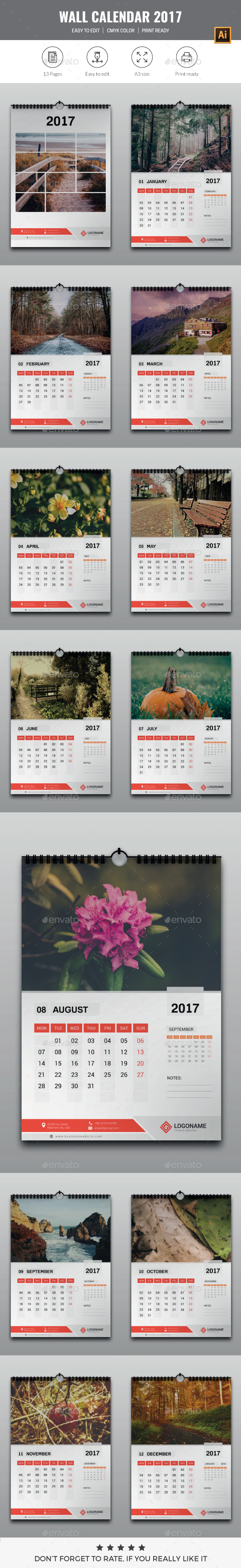 Wall Calendar 2017 - Calendars Stationery