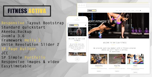 Fitness Academy Joomla Template