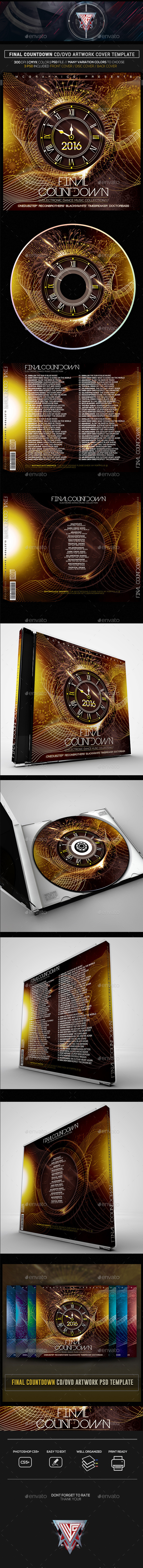 Final Countdown Music Collection CD/DVD Template - CD & DVD Artwork Print Templates