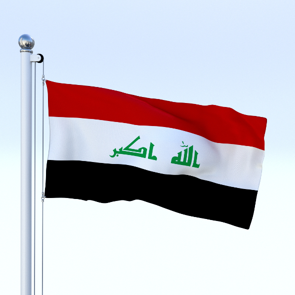 Animated Iraq Flag - 3DOcean Item for Sale