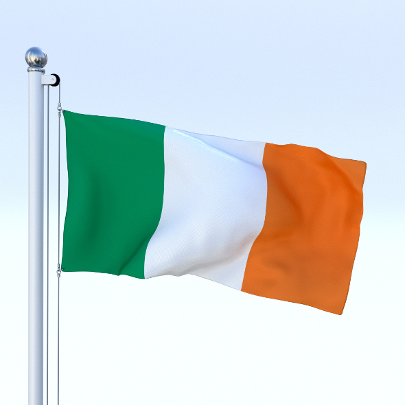 Animated Ireland Flag - 3DOcean Item for Sale
