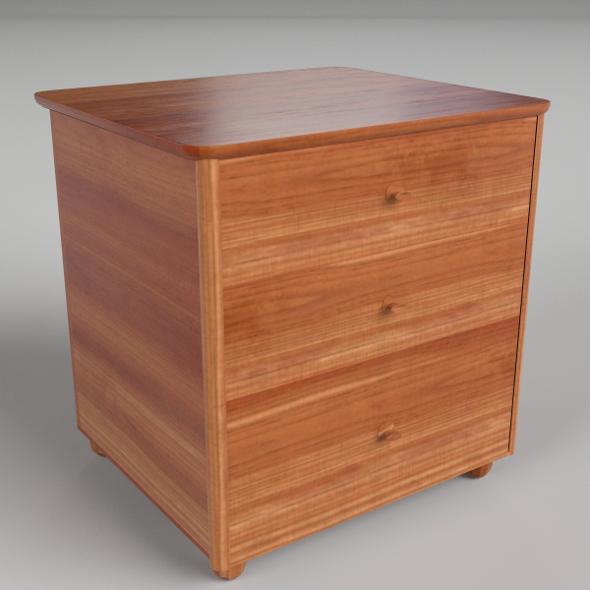 Bedside Table 5 - 3DOcean Item for Sale