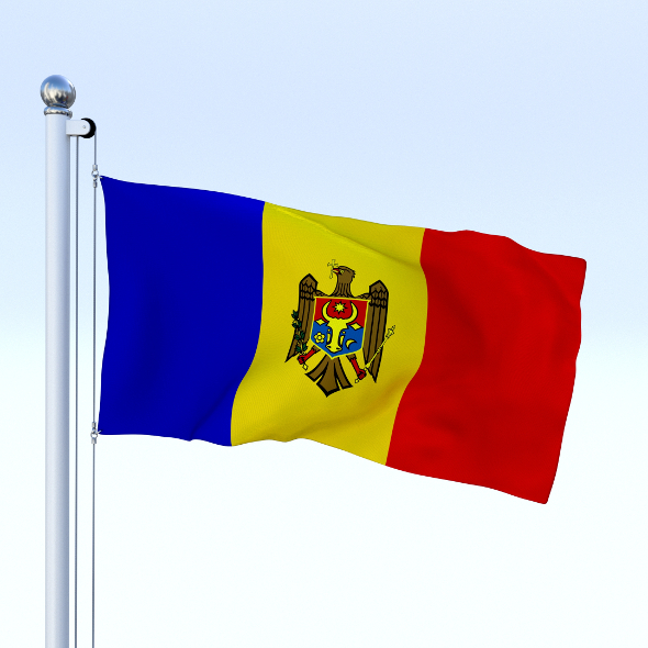Animated Moldova Flag - 3DOcean Item for Sale