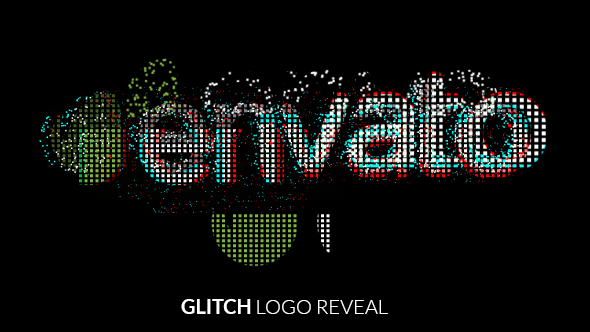 Digital Glitch Logo Reveal After Effects t Logo reveal