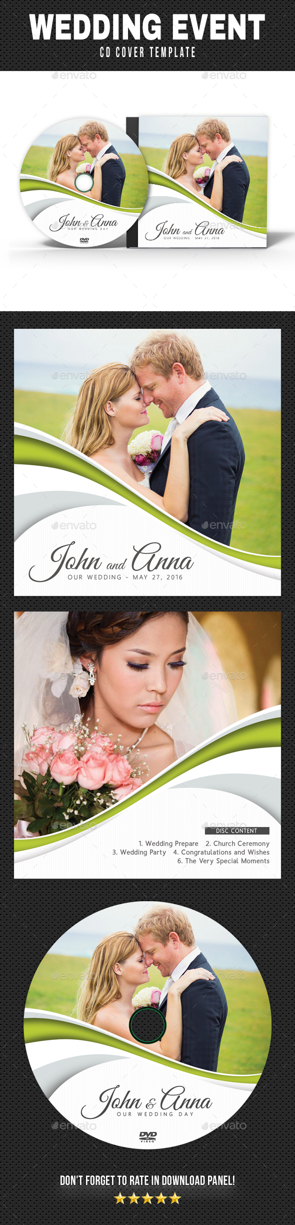 Wedding Event CD Cover v15 - CD & DVD Artwork Print Templates