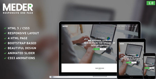 Meder – One Page Responsive Template