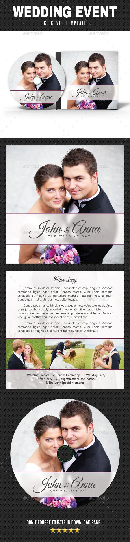 Wedding Event CD Cover v16 - CD & DVD Artwork Print Templates
