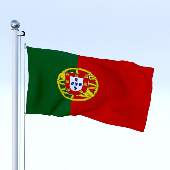 Animated Portugal Flag - 3DOcean Item for Sale