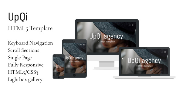UpQi – Responsive Multipurpose One Page HTML5 Template for Agencies / Companies