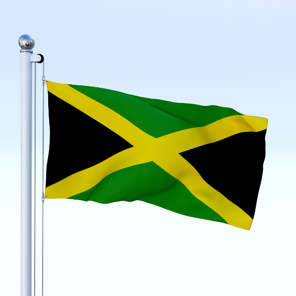 Animated Jamaica Flag - 3DOcean Item for Sale