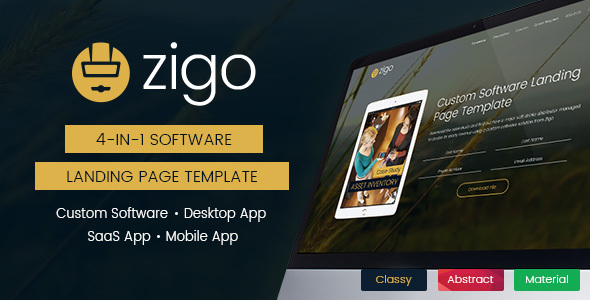 Zigo – Software Landing Page Template