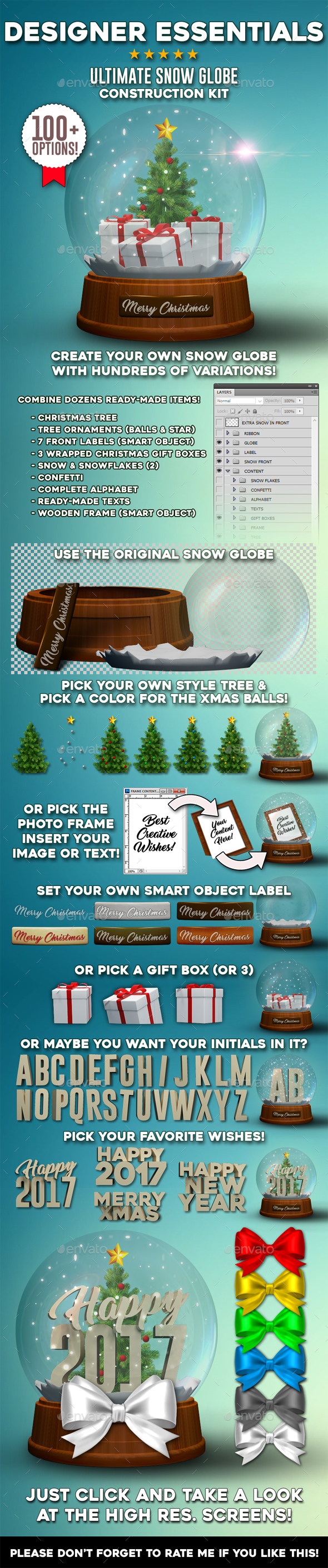 Real Snow Globe Construction Kit - Miscellaneous Print