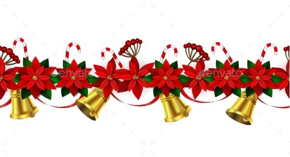 Seamless Christmas Borders - Christmas Seasons/Holidays