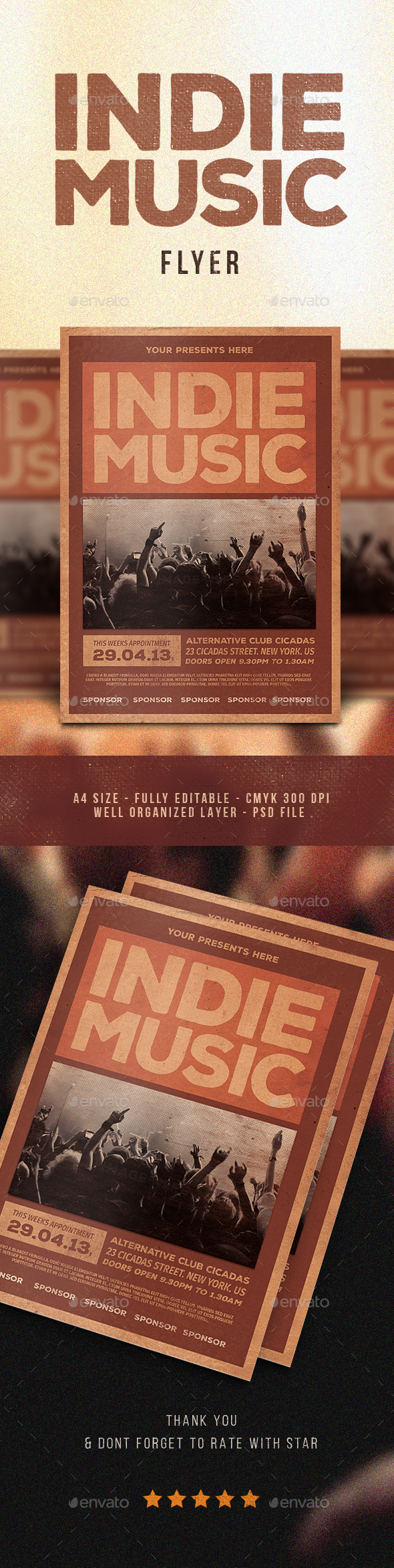 Indie Music Flyer - Flyers Print Templates