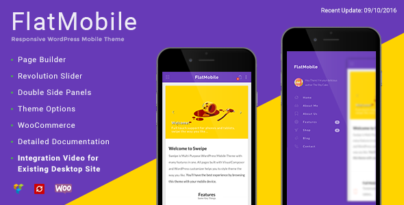 Image of FlatMobile - Responsive WordPress Mobile Theme