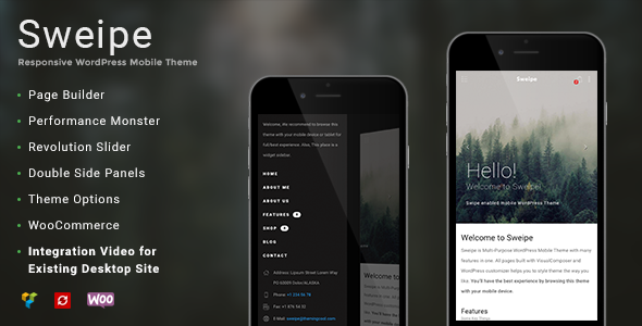 Sweipe - Responsive WordPress Mobile Theme - Mobile WordPress