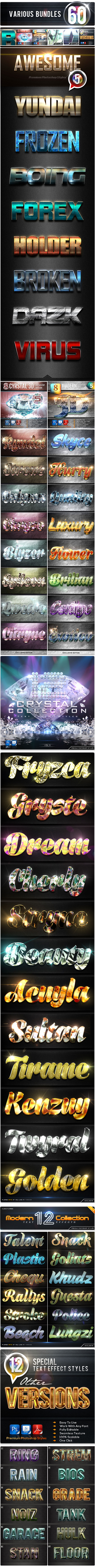 60 Various Bundles Awesome Vol.5 - Text Effects Styles