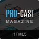 PRO-CAST Magazine HTML5 Template - ThemeForest Item for Sale