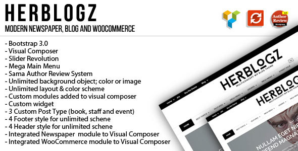 HerBlogz - Clean WP Multiconcept Magazine Theme