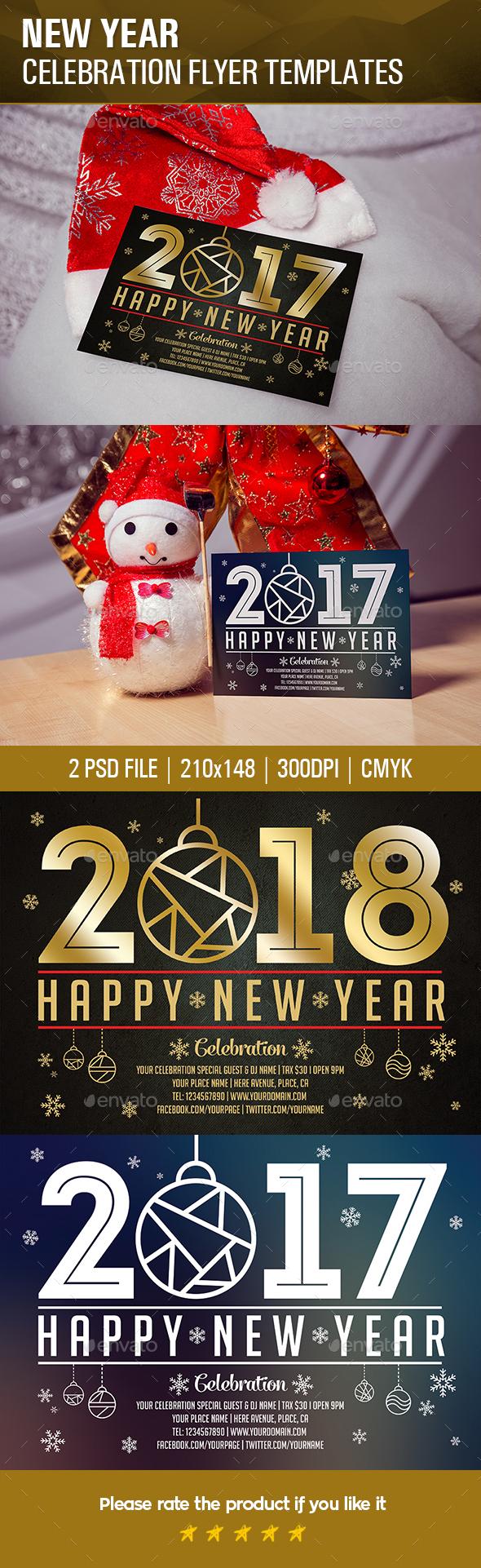 New Year Celebration Flyer Templates - Events Flyers