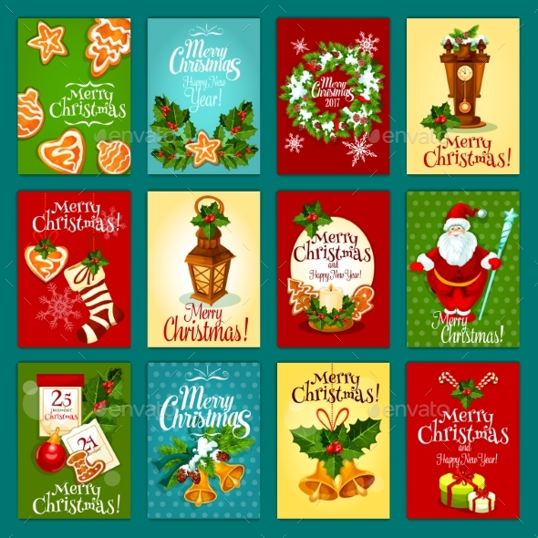 Christmas Winter Holiday Greeting Card Set - Christmas Seasons/Holidays