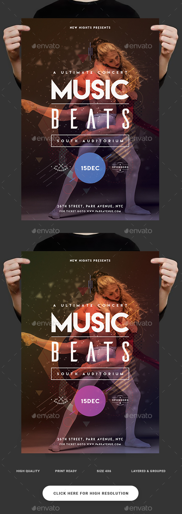 Music Beats Party Flyer - Clubs & Parties Events
