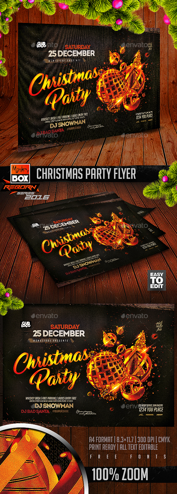 Christmas Party Flyer - Flyers Print Templates