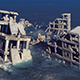 The Ruins of The City Submerged in The Sea - VideoHive Item for Sale