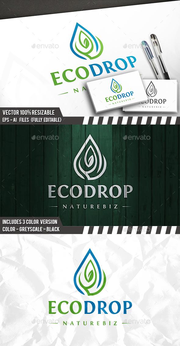 Eco Drop - Nature Logo Templates