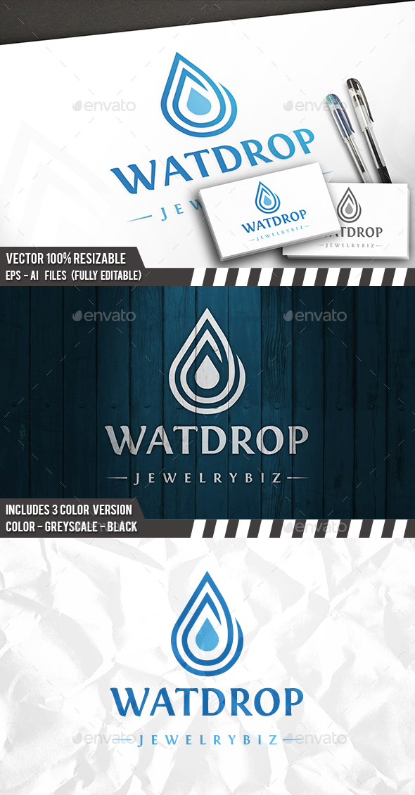 Water Drop - Symbols Logo Templates