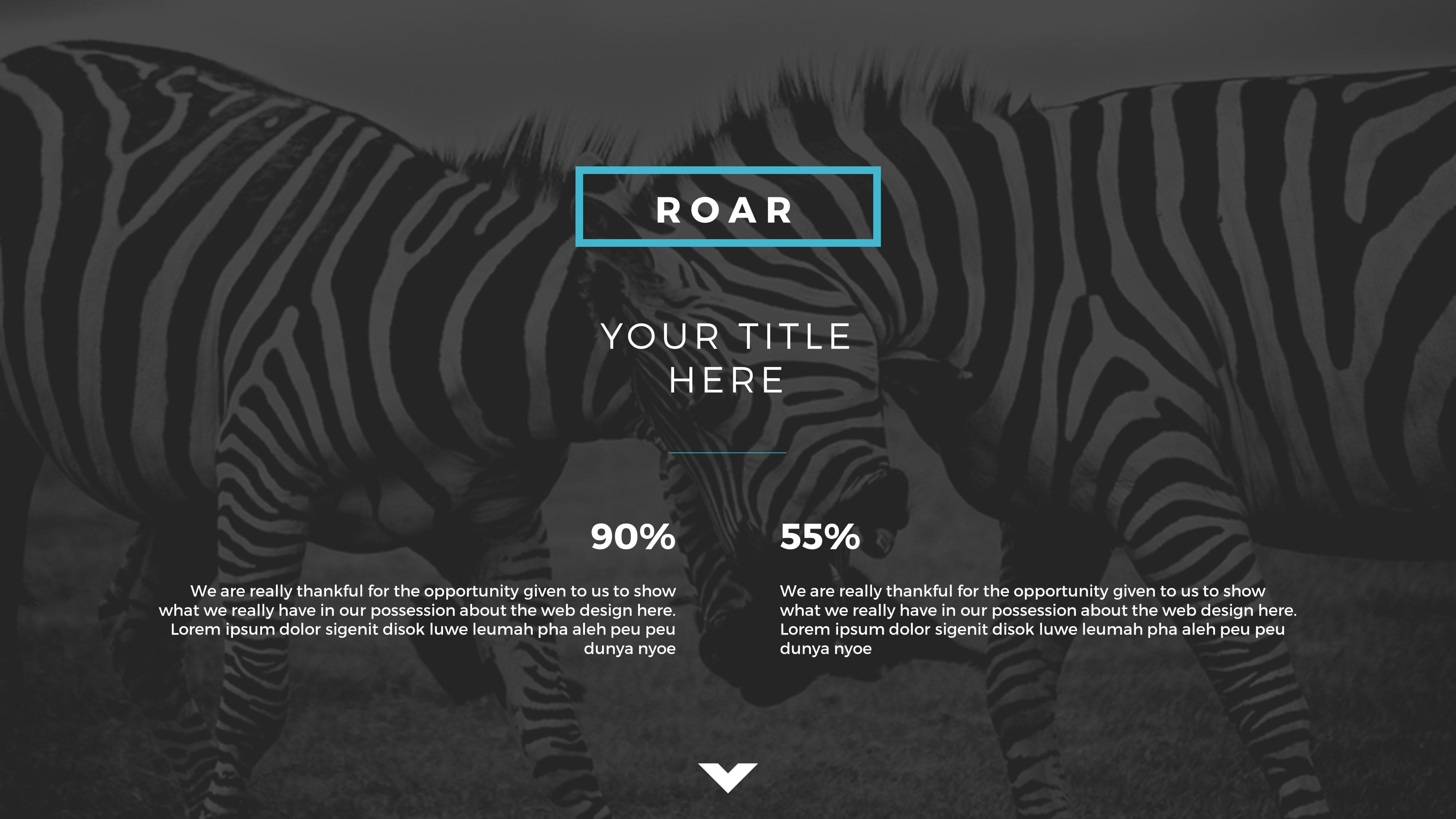Roar presentation template by brandearth graphicriver jpg preview image setslide34 toneelgroepblik Choice Image