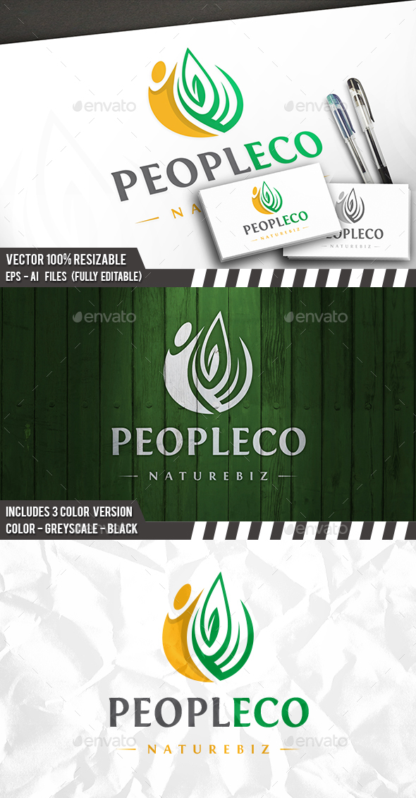 Eco People - Humans Logo Templates