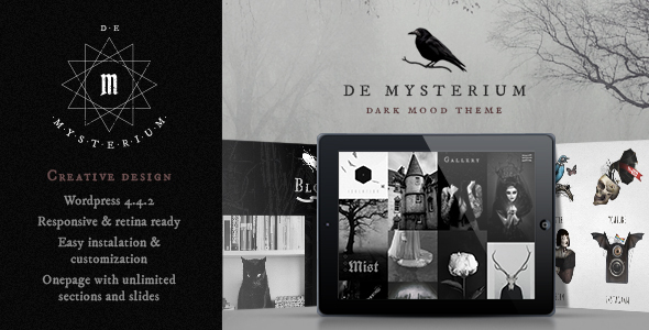 De Mysterium – Onepage WordPress Theme