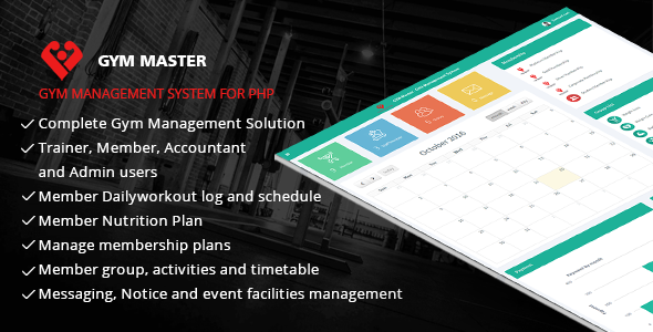 Gym Master - Gym Management System - CodeCanyon Item for Sale