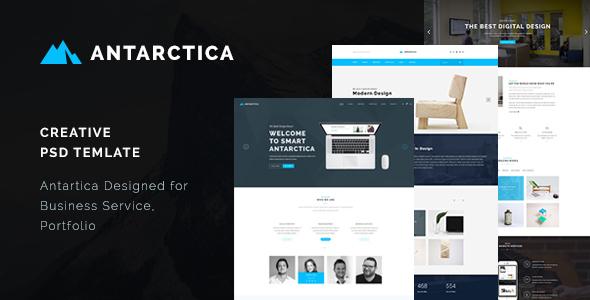 Antarctica – Creative PSD Template