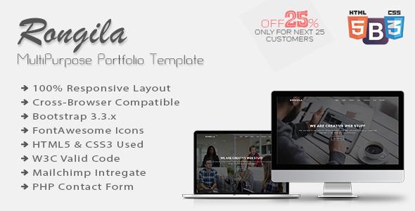 Rongila – MultiPurpose Portfolio Template