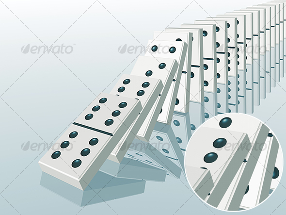 domino effect - 3D Backgrounds